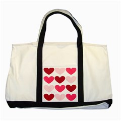 Valentine S Day Hearts Two Tone Tote Bag by Nexatart