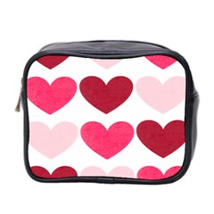 Valentine S Day Hearts Mini Toiletries Bag 2-side