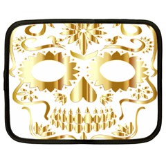 Sugar Skull Bones Calavera Ornate Netbook Case (xl)