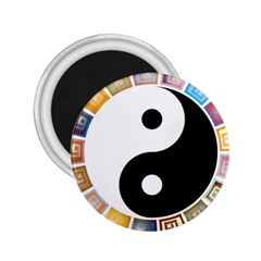 Yin Yang Eastern Asian Philosophy 2 25  Magnets by Nexatart