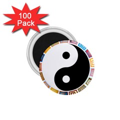 Yin Yang Eastern Asian Philosophy 1 75  Magnets (100 Pack)  by Nexatart
