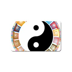Yin Yang Eastern Asian Philosophy Magnet (name Card)