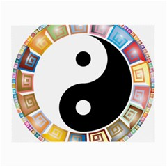 Yin Yang Eastern Asian Philosophy Small Glasses Cloth