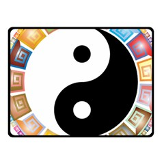 Yin Yang Eastern Asian Philosophy Fleece Blanket (small) by Nexatart