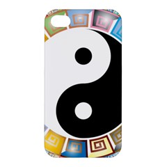 Yin Yang Eastern Asian Philosophy Apple Iphone 4/4s Hardshell Case by Nexatart