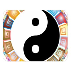 Yin Yang Eastern Asian Philosophy Double Sided Flano Blanket (large)  by Nexatart