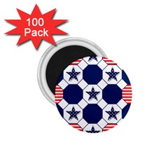 Patriotic Symbolic Red White Blue 1 75  Magnets (100 Pack)  by Nexatart