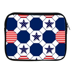 Patriotic Symbolic Red White Blue Apple Ipad 2/3/4 Zipper Cases by Nexatart