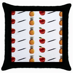 Ppap Pen Pineapple Apple Pen Throw Pillow Case (black) by Nexatart