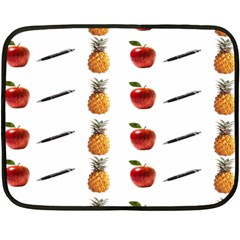 Ppap Pen Pineapple Apple Pen Double Sided Fleece Blanket (mini)  by Nexatart