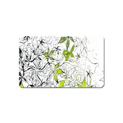 Floral Pattern Background Magnet (name Card) by Nexatart