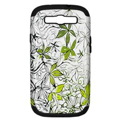 Floral Pattern Background Samsung Galaxy S Iii Hardshell Case (pc+silicone) by Nexatart