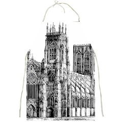 York Cathedral Vector Clipart Full Print Aprons