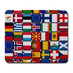 Europe Flag Star Button Blue Large Mousepads by Nexatart