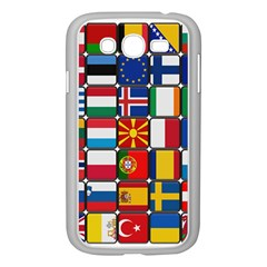 Europe Flag Star Button Blue Samsung Galaxy Grand Duos I9082 Case (white) by Nexatart