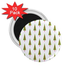 Christmas Tree 2 25  Magnets (10 Pack)  by Nexatart