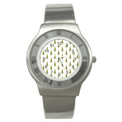 Christmas Tree Stainless Steel Watch