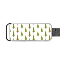 Christmas Tree Portable Usb Flash (one Side) by Nexatart