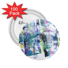 Background Color Circle Pattern 2 25  Buttons (100 Pack)