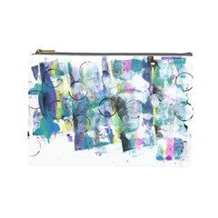 Background Color Circle Pattern Cosmetic Bag (large)  by Nexatart