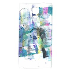 Background Color Circle Pattern Galaxy Note 4 Back Case by Nexatart
