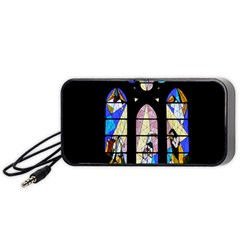 Art Church Window Portable Speaker (black) by Nexatart