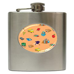 School Rocks! Hip Flask (6 Oz) by athenastemple