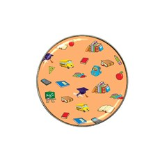 School Rocks! Hat Clip Ball Marker (4 Pack) by athenastemple