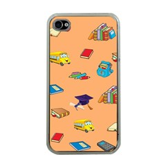 School Rocks! Apple Iphone 4 Case (clear) by athenastemple