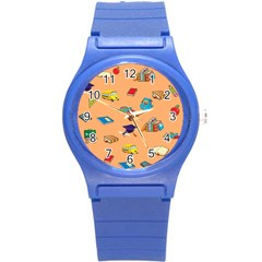School Rocks! Round Plastic Sport Watch (s) by athenastemple