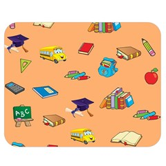 School Rocks! Double Sided Flano Blanket (medium)  by athenastemple