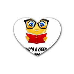 Geek Kid Rubber Coaster (heart)  by athenastemple