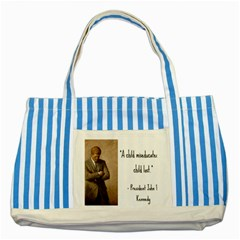 A Child Is Miseducated    Striped Blue Tote Bag by athenastemple