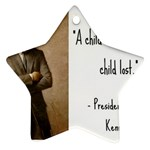 A Child is Miseducated... Star Ornament (Two Sides) Front