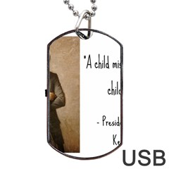 A Child Is Miseducated    Dog Tag Usb Flash (one Side) by athenastemple