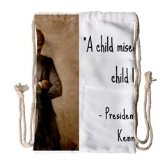 A Child Is Miseducated    Drawstring Bag (large) by athenastemple