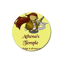 Athena s Temple Rubber Coaster (round)  by athenastemple