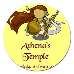 Athena s Temple Magnet 5  (round) by athenastemple