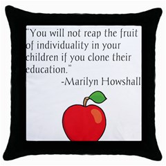Fruit Of Education Throw Pillow Case (black) by athenastemple
