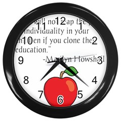 Fruit Of Education Wall Clocks (black) by athenastemple