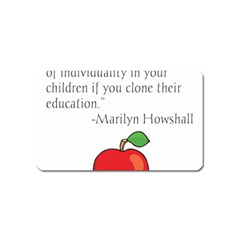 Fruit Of Education Magnet (name Card) by athenastemple
