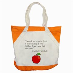 Fruit Of Education Accent Tote Bag by athenastemple