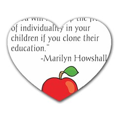 Fruit Of Education Heart Mousepads by athenastemple