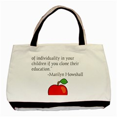 Fruit Of Education Basic Tote Bag (two Sides) by athenastemple