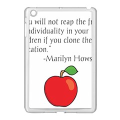 Fruit Of Education Apple Ipad Mini Case (white) by athenastemple