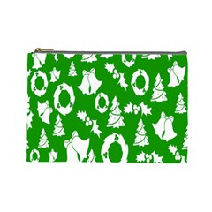 Backdrop Background Card Christmas Cosmetic Bag (large)