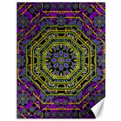 Wonderful Peace Flower Mandala Canvas 36  X 48   by pepitasart