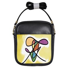 Art Abstract Exhibition Colours Girls Sling Bags by Nexatart
