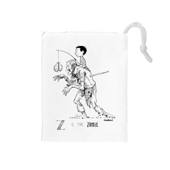 Zombie / Kobold Bag Drawstring Pouch (medium) by TheDean