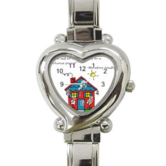 No School Greater    Heart Italian Charm Watch by athenastemple